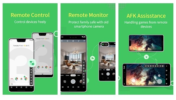 AirMirror: Remote support & Remote control devices