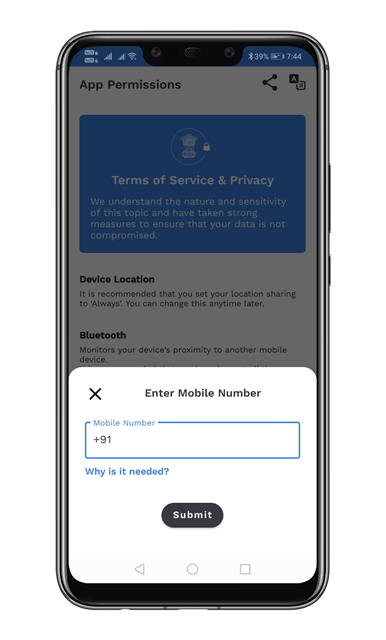 Register mobile number