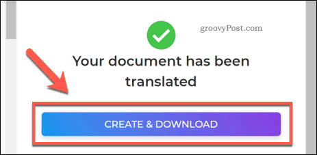 Saving a translated PDF file using DeftPDF