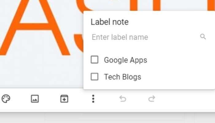 Google Keep Productivity Note Labels