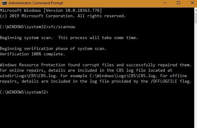 Setupdiag Corrupt Files Repaired