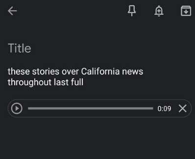 Google Keep Productivity Voice Memo
