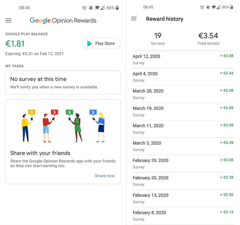 google rewards screenshots