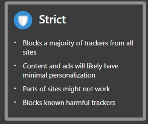 Edge Tracker Protection Strict