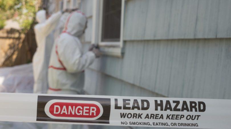 Lead Hazmat Removal Workers Danger