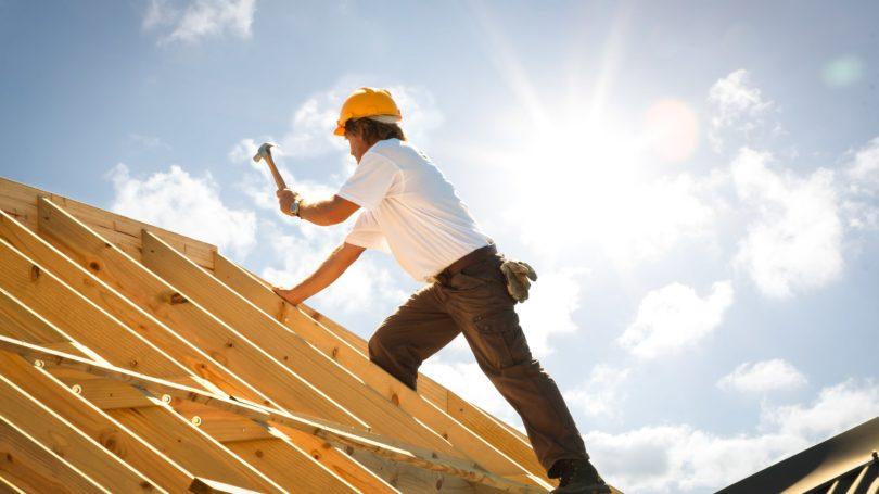 Roofer Wood Hammer Construction Site Home