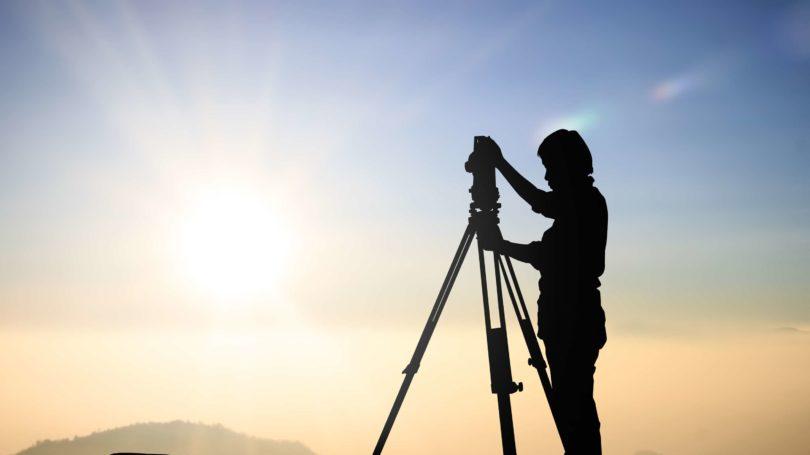 Survey Technician Outdoors Silhouette Horizon
