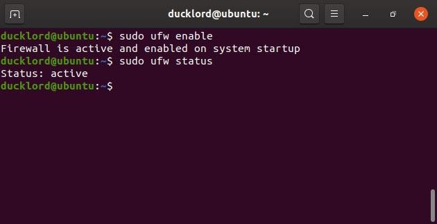 Disable Enable Manage Ubuntu Firewall Ufw Enable