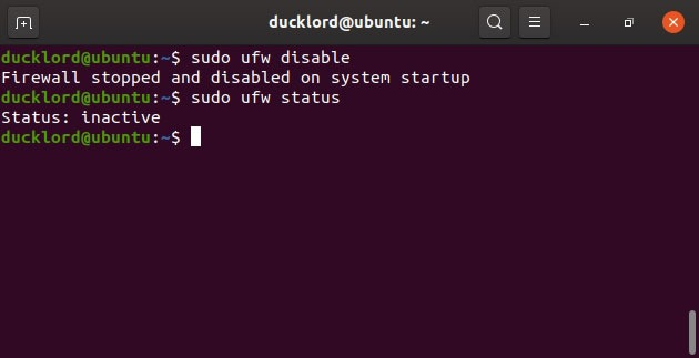 Disable Enable Manage Ubuntu Firewall Ufw Disable