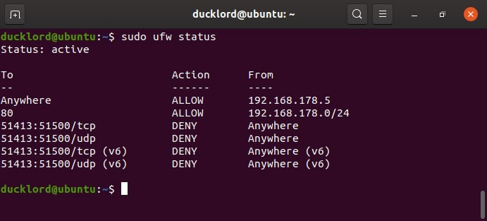 Disable Enable Manage Ubuntu Firewall Status Rules