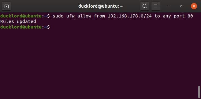 Disable Enable Manage Ubuntu Firewall Allow Ips