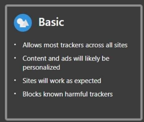 Edge Tracker Protection Basic