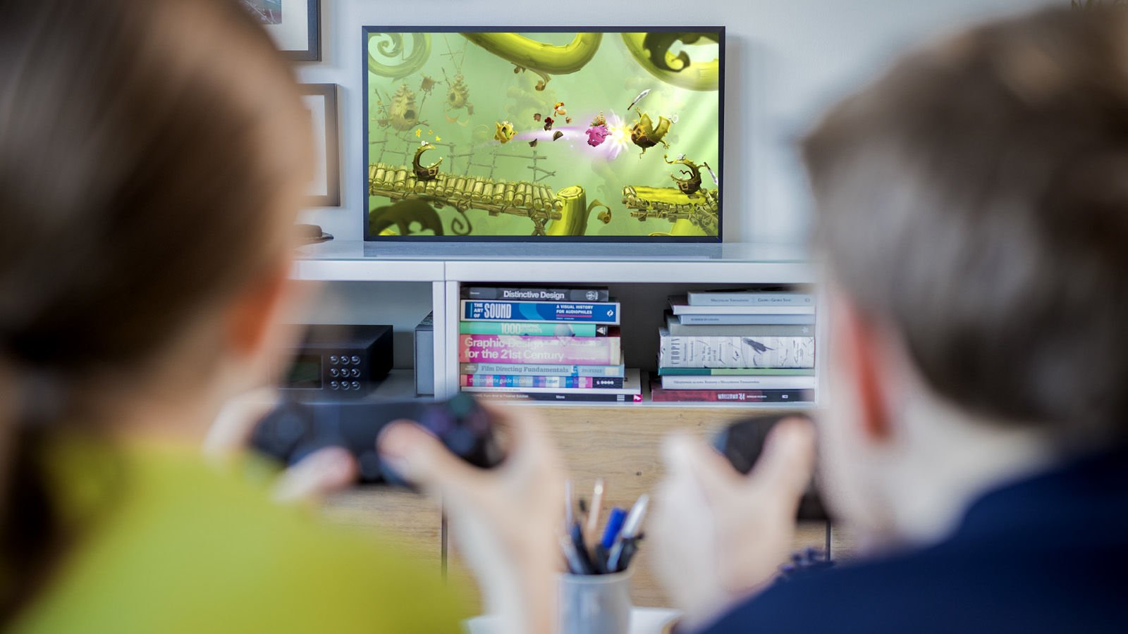 Kids gaming at home