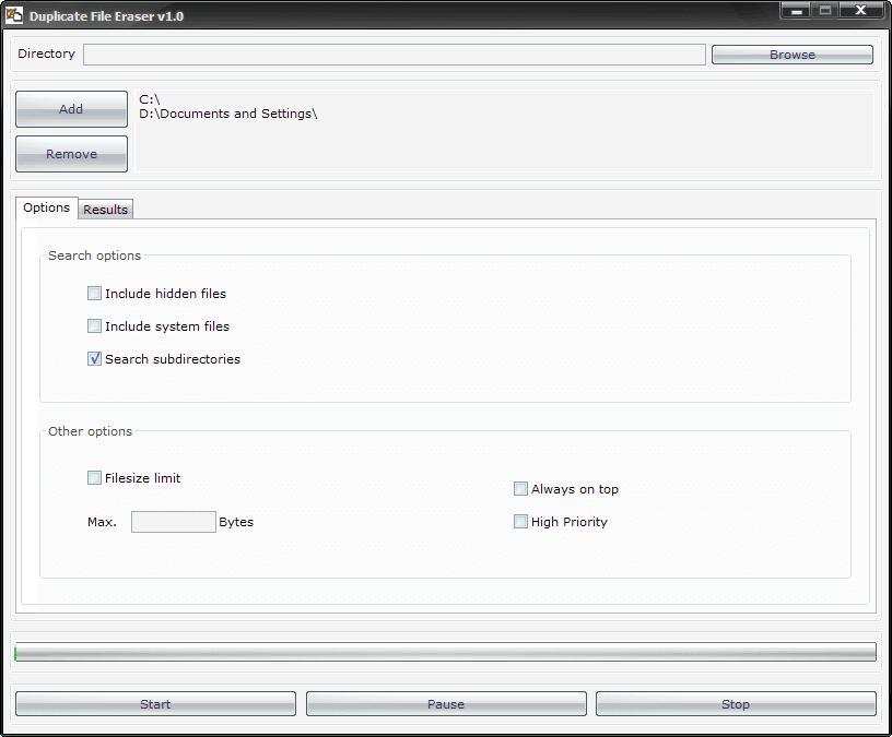 Duplicate File Eraser