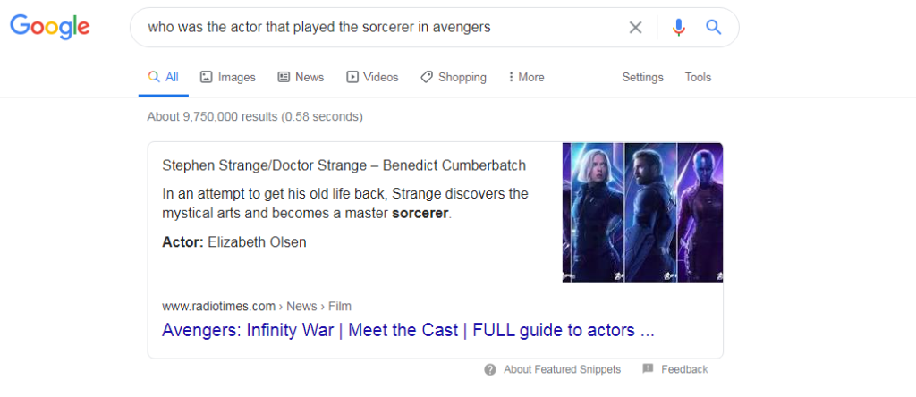 sorcerer in avengers google search screenshot
