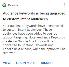 custom intent audiences