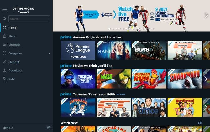 Amazon Video App Library