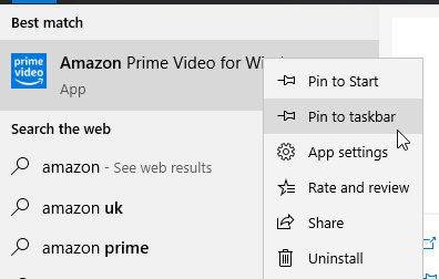 Amazon Video App Pin