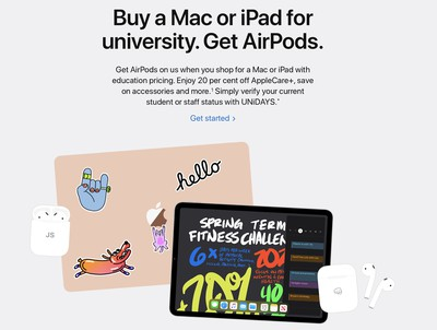 Apple Launches Back to School Promotion in Europe Asia