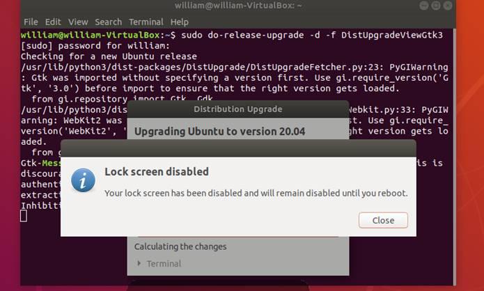 Ubuntu Upgrade1804 2004 Upgrade Lock Screen Disabled
