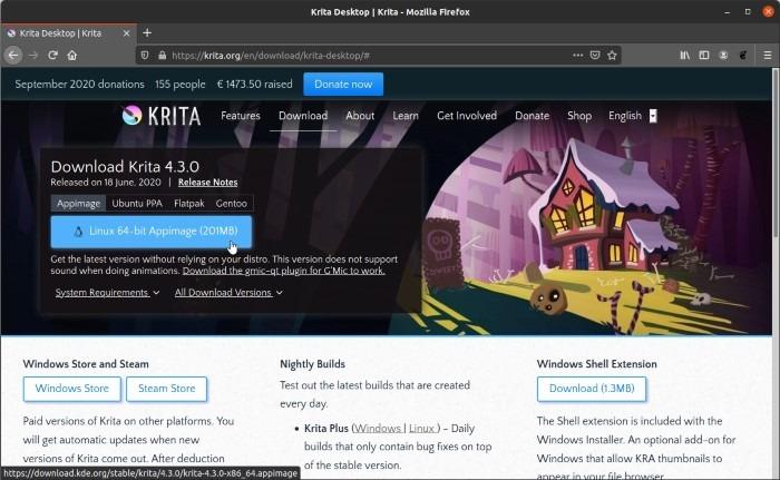 Install Latest Krita In Ubuntu Download Appimage