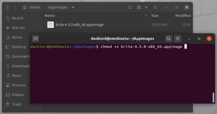 Install Latest Krita In Ubuntu Chmod File
