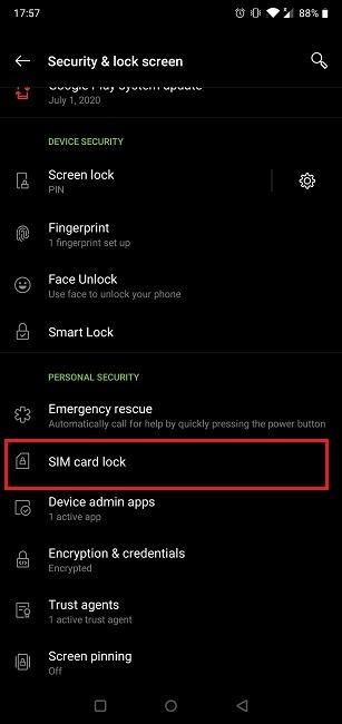 How Change Sim Pin Code Card Lock