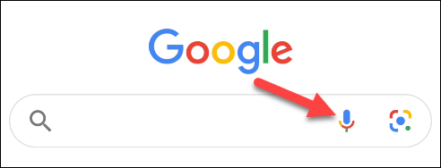 tap the mic icon in google
