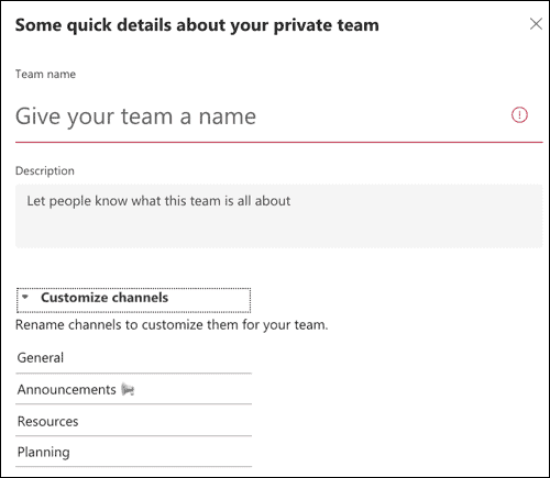How to Create New Team With Template in Microsoft Teams, ONLY infoTech