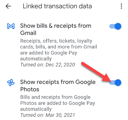 How to Show Receipts From Photos and Gmail in Google Pay, ONLY infoTech