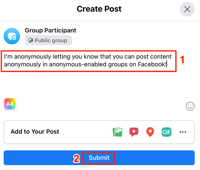 How to Post Anonymously in a Facebook Group, ONLY infoTech
